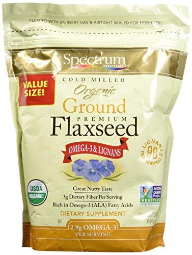 Spectrum Essentials Organic Ground Flaxseed, 24 oz - Organic Essential Ground