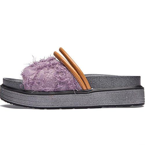 de Flop verano Violeta nuevo Flip Dreamgirl de aire Plataforma de SOHOEOS la libre sandalias señoras al tiras Señoras Vintage Moda q5wRIxt