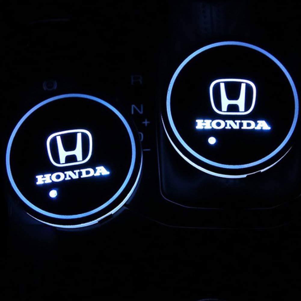 Impermeabili Luminosi e Luminosi Impermeabili con Logo sottobicchieri sottobicchieri Set di 2 sottobicchieri a LED per Auto