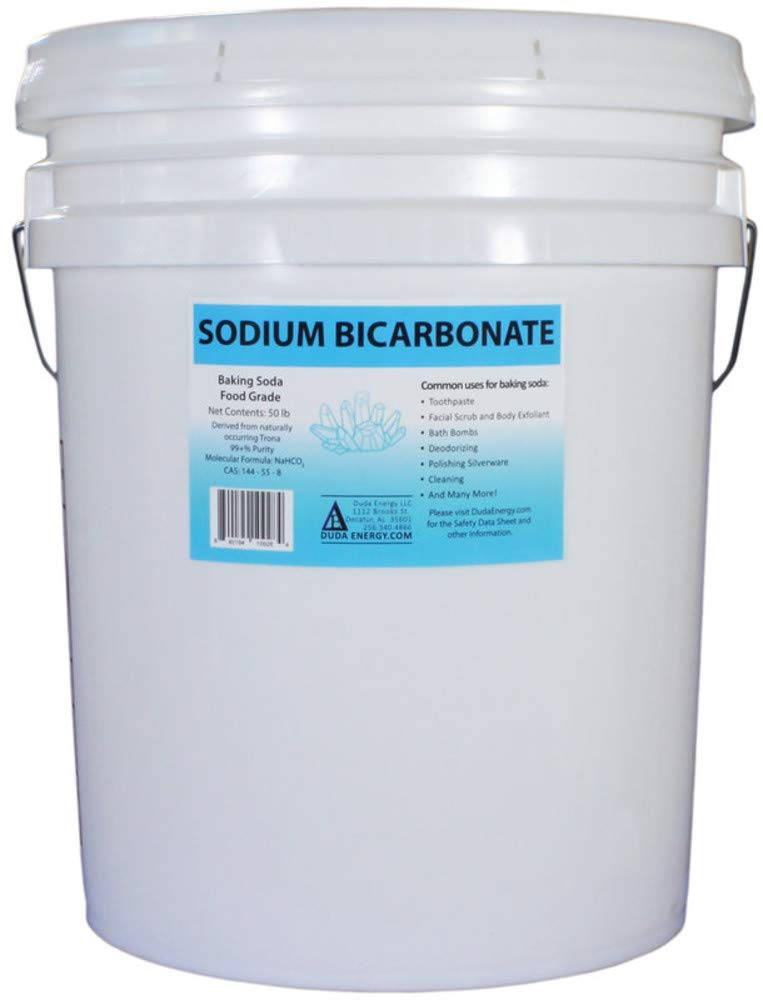 50 lb Pail of USP Pure Sodium Bicarbonate Powder Highest Quality Organic Food Grade ORMI Listed Pure Baking Soda