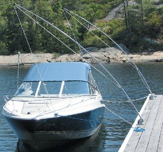 Dock Edge Mooring Whip (Set of 2), 16' - Molded Nylon Wound Rubber