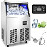 VEVOR 110V Commercial Ice Maker Stainless Steel