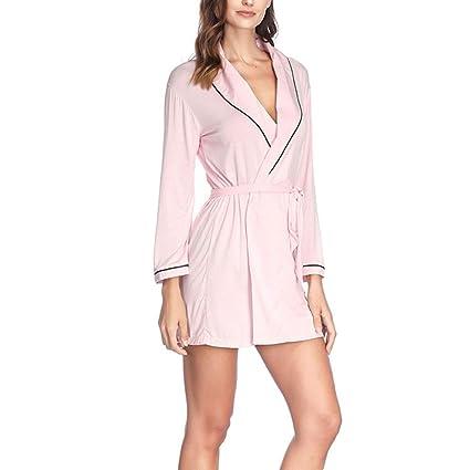 Kanqingqing Ropa de Dormir para Pijamas para Mujeres Bata Larga de Kimono de Mujer Bata de
