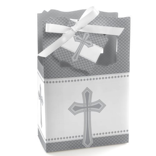 Delicate Blessings Cross - Baptism Party Favor Boxes - Set of ()
