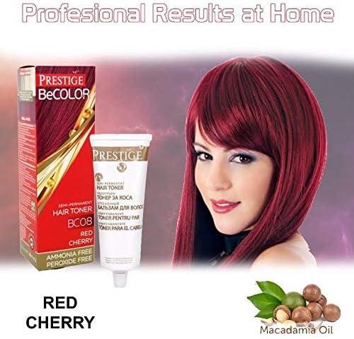 Vips Prestige BeColor Tinte Semi Permanente Color Rojo Cereza BC08, Sin Amoniaco Sin Peroxide