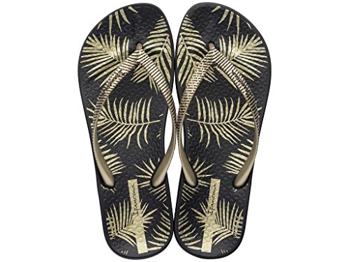Ipanema Damen Zehentrenner Anatomic Nature II 82279 schwarz-golden (21117)