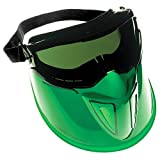 "Jackson Safety V90 ""The Shield"" Safety Goggles with Face Shield (18631), IRUV Shade 3.0 Anti-Fog Lens with Black Frame, 6 Pairs / Package"
