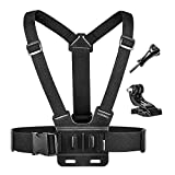 Luxebell Chest Mount Harness Strap for Gopro Hero 6 5 4 3 3+ Session Black Silver and Sjcam with J-Hook - Fully Adjustable Strap Size - Perfect for Most Action Sports