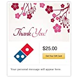 Dominos Thank You - Flowers Gift Cards - E-mail Delivery