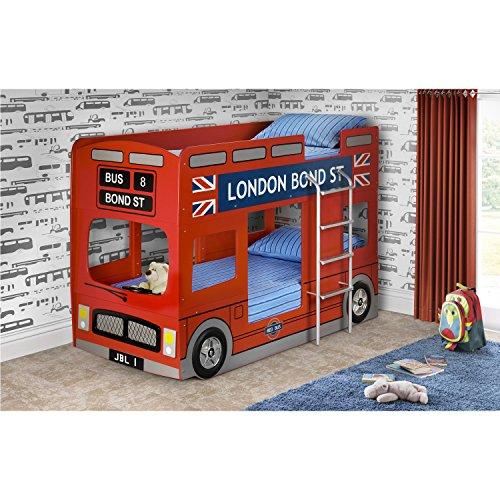 Julian Bowen London Bus Bunk Bed In Red