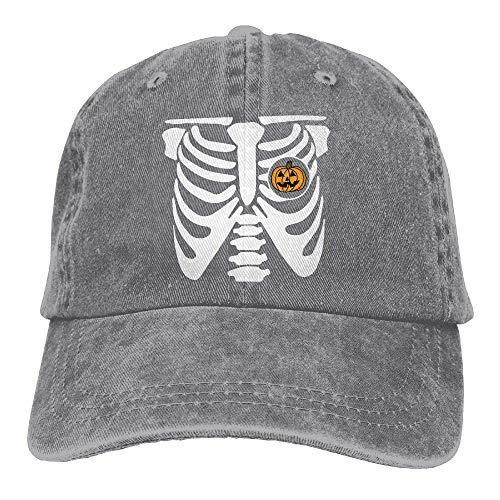 2018 Adult Fashion Cotton Denim Baseball Cap Pumpkin Halloween Skeleton Classic Dad Hat Adjustable Plain Cap