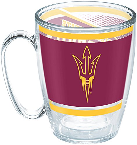 Tervis 1257560 Arizona State Sun Devils Legend Insulated Tumbler with Wrap, 16oz Mug, Clear