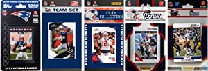 NFL New England Patriots 6 Different Licensed Trading Card Team Sets