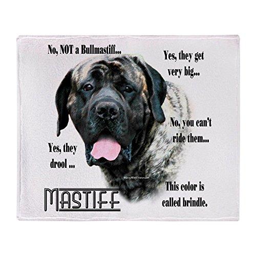 CafePress Mastiff(Brindle) FAQ Soft Fleece Throw Blanket, 50