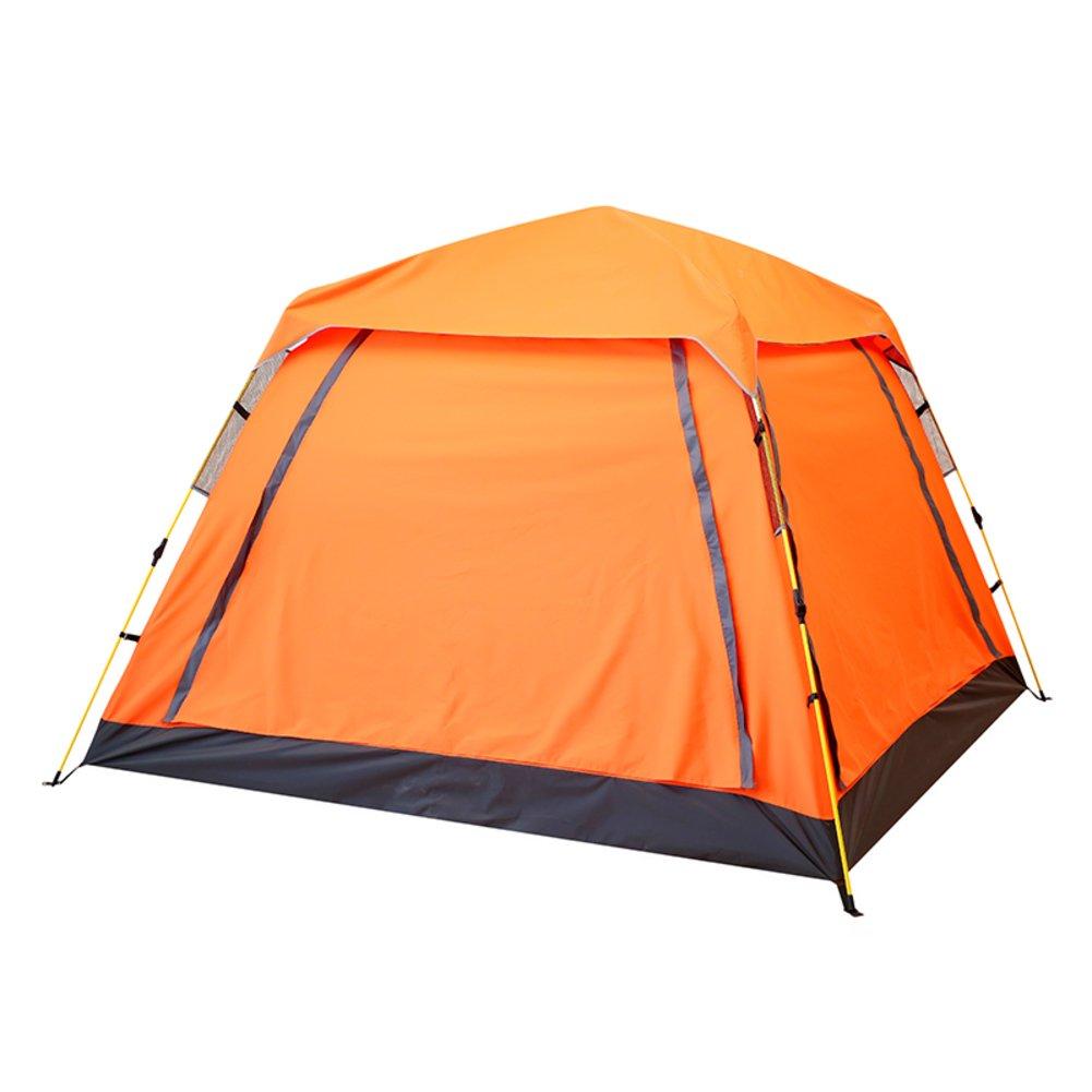 Automatische Zelt,Outdoor 3-4 Personen Four Corners Regendichte Campingausrüstung Mit Großen Öffnungen Portable Double-layer Zelt Kinder Familienzelt