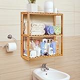 HOMFA Bamboo Bathroom Shelf 3-Tier Multifunctional