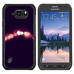Luces Night City Negro Peach borrosa- Metal de aluminio y de plástico duro Caja del teléfono - Negro - Samsung Galaxy S6 active / SM-G890 (NOT S6)