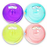 Microwave Plate Cover Set -- Pack of 4 Premium Microwave Food...