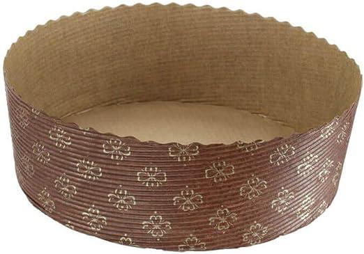 7 1//4 X 2 3//8-12Pcs Round Cake Low Panettone Paper Pan Mold