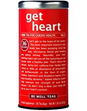The Republic of Tea Be Well Red Rooibos Tea - Get Heart - No.12 Herb Tea For Cardio Health, 36 Tea Bag Tin