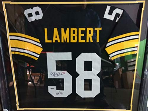 Jack Lambert Pittsburgh Steelers Autographed Jersey for sale  Delivered anywhere in USA