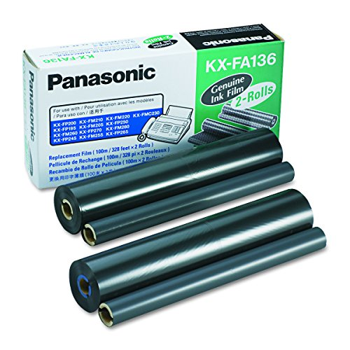Panasonic KXFA136 Film Roll Refill (Box of 2) (Kx Fa136 Refill)