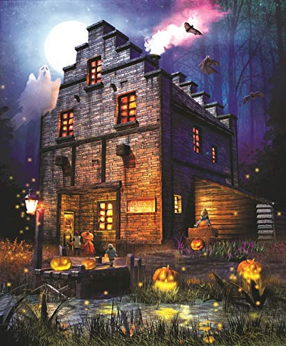 Firefly Inn 1000 pc Halloween Jigsaw Puzzle by SunsOut -