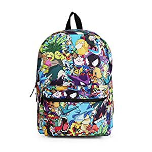 Amazon.com   Pokemon Character Mashup Backpack School Bag   Kids ... 77323fde3a