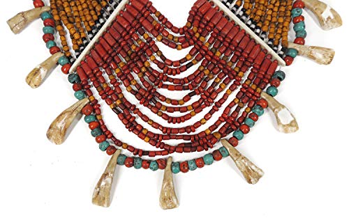 15 Strand Naga Necklace Buffalo Teeth Pendant India for sale  Delivered anywhere in USA