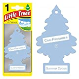 Magic Tree Little Trees Car Home Air Freshener Freshner Smell Fragrance Aroma Scent - SUMMER COTTON (120 Pack)