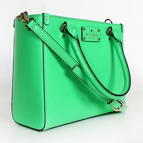 Kate Spade Bud Green Leather Small Quinn Wellesley Hand Bag
