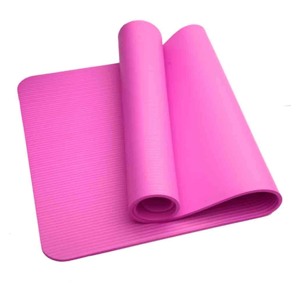 rose  WZHIJUN Tapis de Yoga Enfants 10mm épaissir élargisseHommest Antidérapant Tapis d'exercice Tapis De Danse avec Sangle (Couleur   violet)