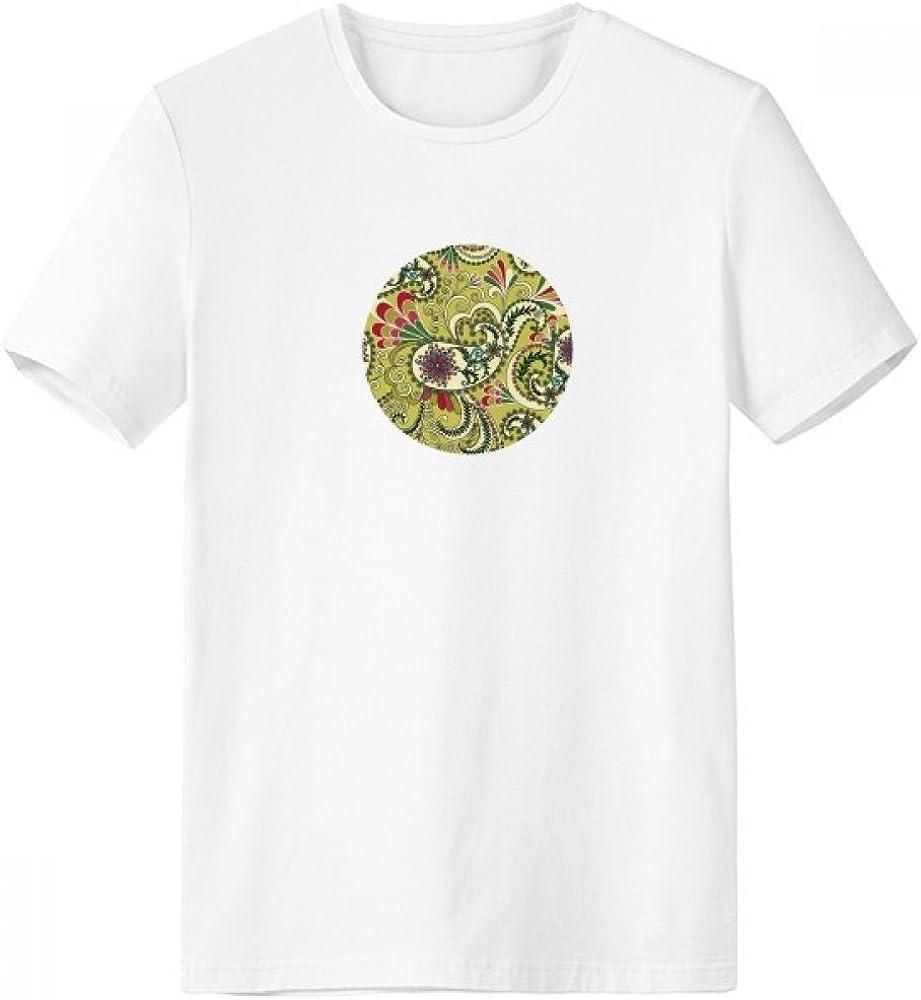 DIYthinker Flor del pavo real de la pluma del modelo abstracto de cuello redondo camiseta blanca de manga corta Comfort camisetas deportivas de regalos - Multi - Grande: Amazon.es: Ropa y accesorios
