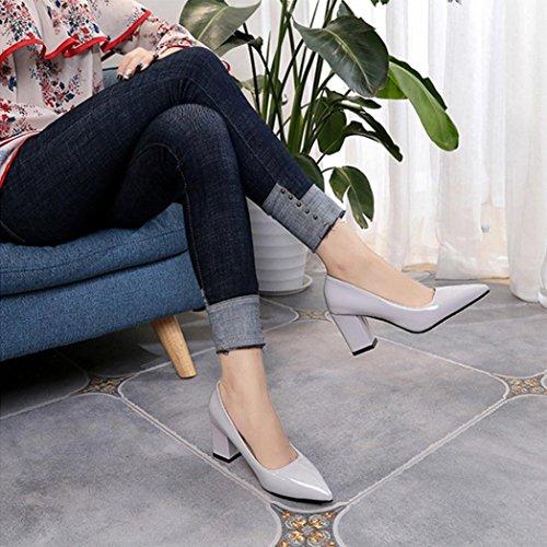 wuayi Damen Stiefel & Stiefeletten Schwarz Schwarz Weiß