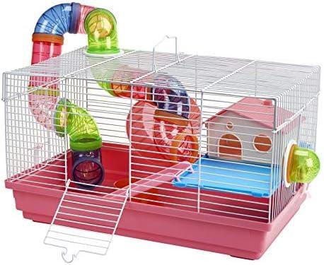 Jaula de hámster con Tubos y Accesorios para Mascotas, Gerbil y ...