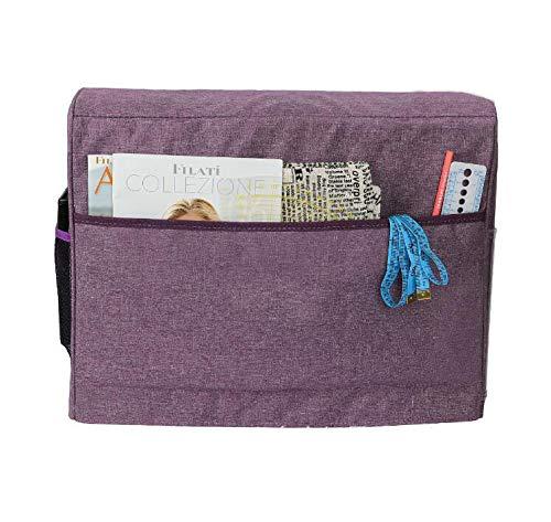 Bolso para M/áquina de Coser,Cubierta protectora para m/áquina de coser con bolsillos de almacenamiento para m/áquina de coser y accesorios adicionales 17x7.5x13inch Gris