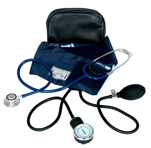 Dixie Ems Blood Pressure Cuff With Dual Head Stethoscope - Pressure Monitor Stethoscope Blood