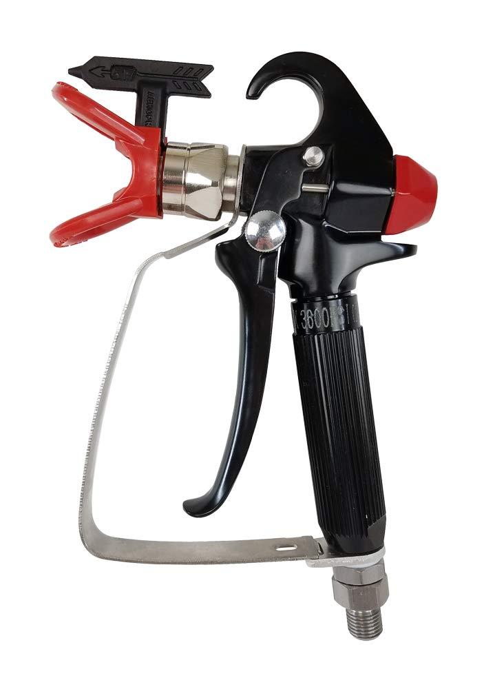 AEROPRO USA A818C Pressure Feed Airless Spray Gun compatible with Graco, Titan, Ryobi, RAP Series, and Homeright Brands by AEROPRO USA (Image #1)