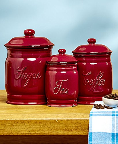 top 5 best kitchen canisters set of 3 red for sale 2017 best kitchen storage containers gorgeous canister sets