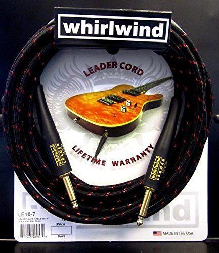 Whirlwind Leader Elite 18.5 Electrc guitar cable cord, Keyboard bass cable USA by Whirlwind