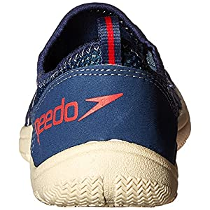 Speedo Men's Seaside Lace 4.0 Water Shoe, Blue/White, 11 M US