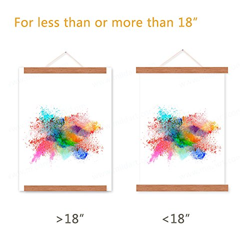18x24 Poster Frame, Magnetic Light Wood Frame Hanger for Photo Picutre Canvas Artwork Art print Wall Hanging (1 Pack, 18'') by Benjia (Image #3)