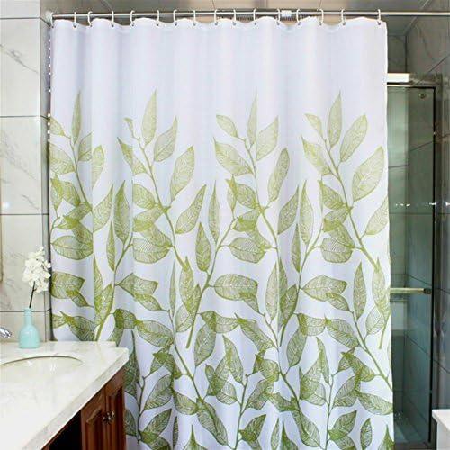 h and m home decor.htm amazon com manggou leaves fabric shower curtain  waterproof  manggou leaves fabric shower curtain
