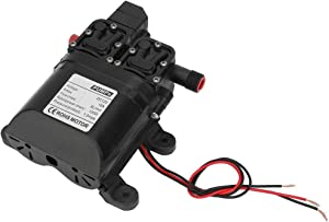 Self Priming Diaphragm Water Pump, DC 12V 120W 2-3meter 8L/min Suction High Pressure Self Priming Diaphragm Water Pump with Automatic Pressure Switch for Lawn Garden Ship
