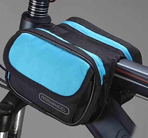 Fahrradtaschen Radsport JSZ Radfahren Fahrrad Rahmen Pannier Sattel vorne Rohr Tasche Doppelseite Aus IS