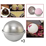 Bath Bomb Mold Machine Youbedo Bath Bomb Molds Lush Bombs Kit Food Safe Handmade Soap Salts Candy Or Chocolate Tool 3 Set Large Size 10cm