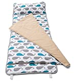 HESEAM for Kids Nap Mat,Sleeping Cotton Mat with Blanket and Pillow,Perfect for Daycare and Preschool or Napping On-The-Go,Removable Pillow - Soft, Lightweight, Toddler,3-7 Years - Whale