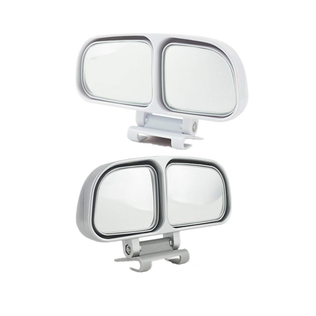 JMAHM 2 Piece Blind Spot Mirror Auxiliary Mirror for car Can be Adjustable or Fixed Installed Car Mirror(Left and Right) (Black)