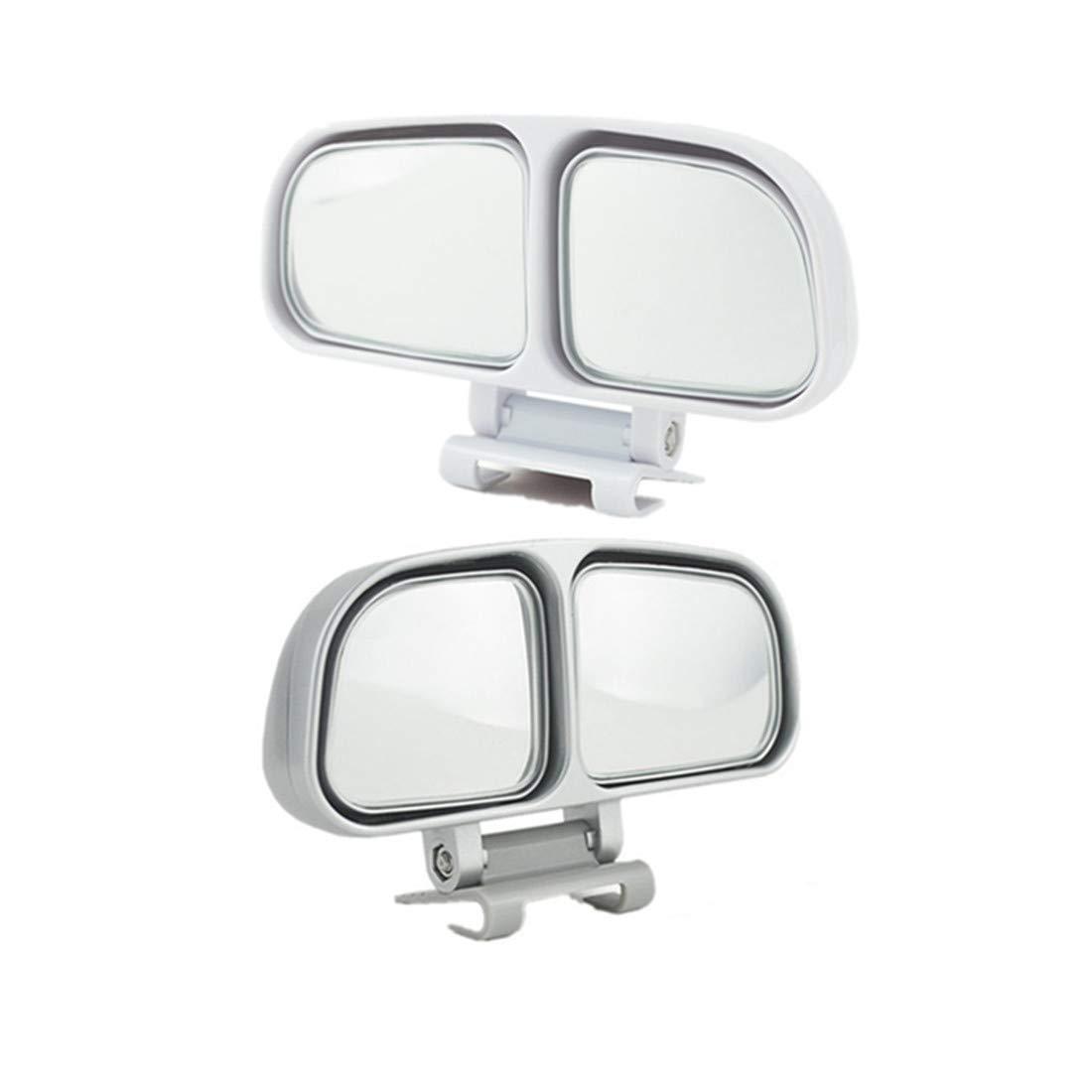 JMAHM 1 Paar Blinden Fleck Spiegel Auxiliary Spiegel fü r Auto kann einstellbar oder fest installiert Auto Spiegel (links und rechts)