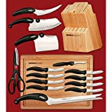 Knife / Knife Set With Block, Miracle Blade III 17-Piece Knife Set 92MB3RM304 with Cutting Board